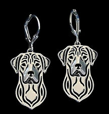 Labrador Retriever Dog Earrings-Fashion Jewellery Silver Plated, Leverback Hook