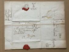 A77-Rare Lettre de BOURGOIN Dauphiné 1763 pour DIJON à un Conseiller du Roi