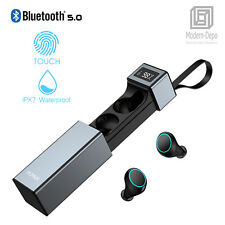 Wireless Earbuds, Bluetooth 5.0, Stereo HiFi Earphones w/ built in Microphone