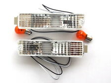 VW Golf Jetta MK2 2 Clear Bumper Indicator Repeater Lights Lamps Turn Signals