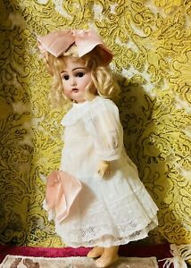 """Vintage3 Ps Organdy Embroidery cotton dress/German/French dolls 14""""Doll Not Sale"""