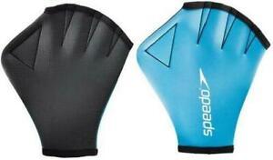 Speedo Swimming Webbed Fabric Aqua Gloves Strength Resistance Training