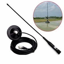 5M Soft R2 UHF VHF Dual Band 144/430MHz MaleHam Mobile Antenna+Magnetic Mount