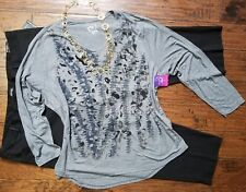 plus size 26wp 4x outfit clothing lot, NWT pants & blouse, necklace