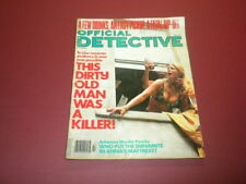 OFFICIAL DETECTIVE magazine 1978 July TRUE CRIME MURDER POLICE CASES