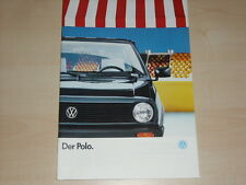 63481) VW Polo Prospekt 01/1988