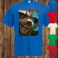 Mens Womens Marvel Rocket Racoon Character Cult Movie T Shirt Tee Freepost UK