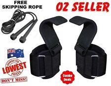 Weight Lifting Training Gym Power Hook Grips Straps Gloves Wrist Support Lift