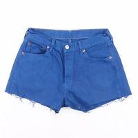 Vintage LEVI'S 501 Blue Regular Casual Denim Shorts Womens S W28