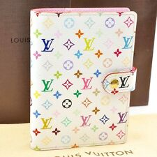 Auth  Louis Vuitton Multicolor Agenda PM Day Planner Cover White R21074 #S1367