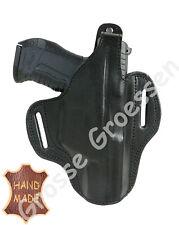 Pistolenholster- UNIVERSAL f. gr. Pistolen (HK30/P99)-Leder-Handarbeit- schwarz