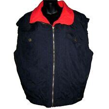 Vtg Edelweiss Ski Vest Womens Lg Sleeveless Coat Red Aztec Emblem Flannel Lined