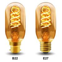 Vintage LED 4W Edison Style T45 Teardrop Spiral Filament Light Bulb B22 or E27