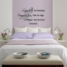 Wall Decal Tinkerbell Laughter Is Timeless Imagination has no end Dreams