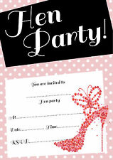 Hen Party Invitations with or without Envelopes 16 A6 - retro design