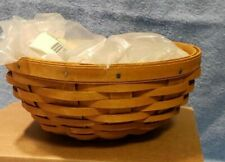 Longaberger 2015 Buffet Buddy Bowl in Warm Brown and lidded protector NEW