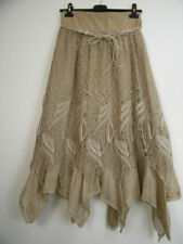 Normalgröße Damenröcke im Lagenlook-Stil aus Baumwolle