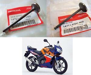 Honda GENUINE CBR125 R Valves Exhaust + Inlet Valve 2005 2006 2007 2008 2009 10