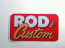 Rod and custom sticker decal hot rod rat lowrider vintage  look car truck bike
