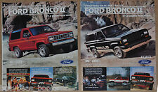 1984 FORD BRONCO II advertisements x2, Ford Bronco 2, 2 ads