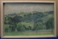 """Kröpelin """"Bergige Landschaft mit Bäumen"""", Pastell, signiert, datiert, 1939"""