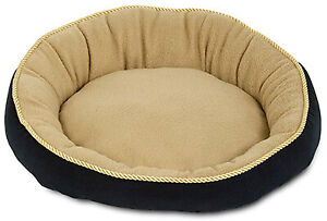 28375 Bolster Pet Bed, Round, 18-In. - Quantity 1