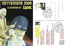 fumetto Noir SADIK CONTRO KANNIBAL - 2 albetti + cartolina con annullo