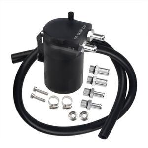300ml Oil Catch Can Kit Reservoir Tank Engine Baffled Universal Aluminum Alloy