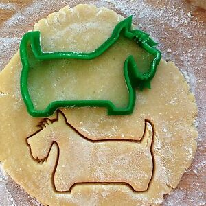 Scotty cookie cutter. Dog cookie stamp. Scotch terrier cookies