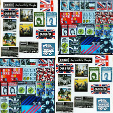 More details for 61 x oasis & stone roses laptop stickers - noel liam gallagher ian brown manches
