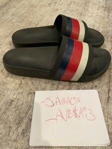 Gucci Slides Rubber Sandals Mens Black/Red/White/Blue size GUCCI 8 308234