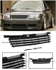 For 99-05 VW Jetta MK4 Badge-less Euro Style Front Bumper Grille Glossy Black