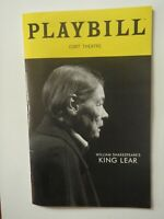 King Lear on Broadway Playbill Glenda Jackson April 2019