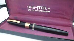 GORGEOUS SHEAFFER IMPERIAL IV, BLACK, IN BOX, SEMI FLEX, 14K FINE NIB, USA