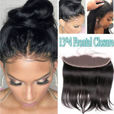 Peruvian Real Virgin Human Hair Weft 13*4 Frontal Closure Straight One Piece US