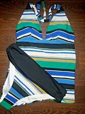 NEXT SZ 14 TOP & 16 FULL BOTTOM MULTI STRIPE MATCHING TANKINI SET BNWT