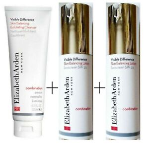 Elizabeth Arden Visible Difference: Exfoliating Cleanser + 2 SPF 15 Lotions