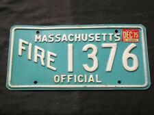 Massachusetts Firefighter Fire Department License Plate