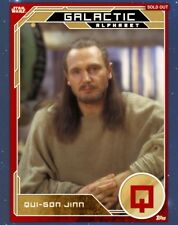 Star Wars Card Trader Galactic Alphabet Gold Qui-Gon Jinn Topps SWCT digital