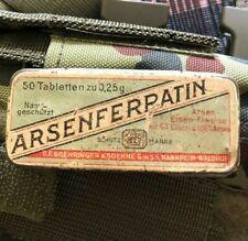 Alte Medikamentenschachtel Medikamentenbox aus Metall selbstverständlich leer