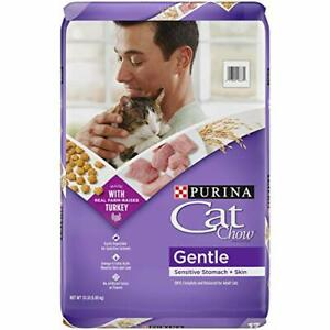 Purina Cat Chow Gentle Dry Cat Food Sensitive Stomach + Skin - 13 lb. Bag