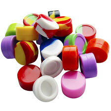 5ML 10Pcs Silicone Container Silicone Jars Dab For Concentrate Oil Wax Round