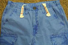 TRUE RELIGION CARGO BOARD Shorts 32 NWOT$259 Shaded Blue! Signature Logo's!