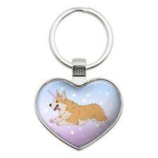 Unicorg Corgi Unicorn Heart Love Metal Keychain Key Chain Ring