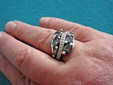 925 Sterling Silver Ring With Mystic And White Topaz UK U, US 10 (rg2193)