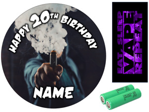 VAPE INSPIRED PERSONALISED EDIBLE ICING CAKE TOPPER UP TO A3