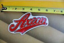 AXION Footwear Shoe Co Skateboard Action Red F1 Vintage Skateboarding STICKER