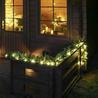 24V Connectable 3m Outdoor Pre Lit Christmas Light Up LED Garland | Garden Home