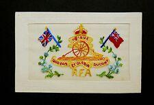WW1 Silk Postcard RFA Royal Field Artillery