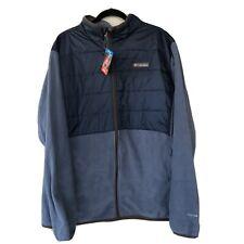 Columbia Omni Heat Reflective Full Zip Fleece Jacket Navy Blue XXL MSRP $110
